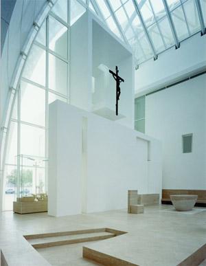 Meier richard architetto nuovi materiali chiesa dives in for Richard meier opere