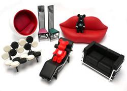 Design le sedie pi famose dei designer pi celebri in miniatura - Poltrone design famose ...