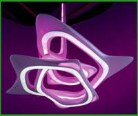 Zaha hadid architetto designer lampada vortexx salone for Mobili stilizzati