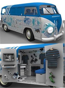 Adidas brand design: bus-store