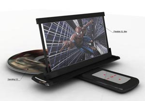 Lettore DVD portatile. Tecnologia OLED, nuovi materiali.