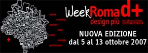 Week-RomaD+, Roma Design+: rassegna di design ed arte