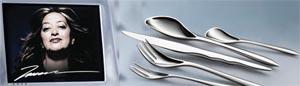 Zaha Hadid: nuova collezione posate Zaha cutlery