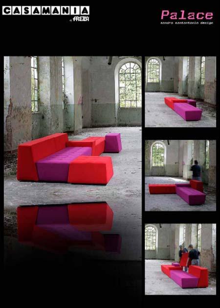 Casamania palace arredo italiano divani design santangelo for Interior design famosi