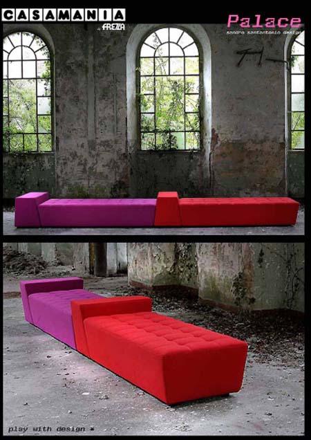 Casamania: il divano modulare Palace di Sandro Santantonio