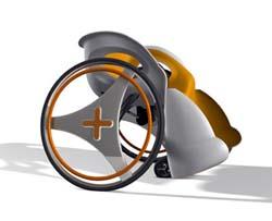 Design per il sociale di Wai Lam: sedia a rotelle