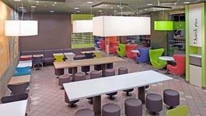 Design di stile per gli ambienti McDonald's: Arne Jacobsen