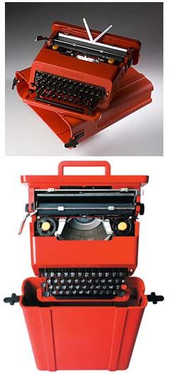 Valentina, macchina da scrivere portatile, Sottsass