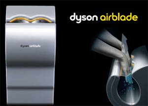 Dyson Airblade , asciugamani ad aria