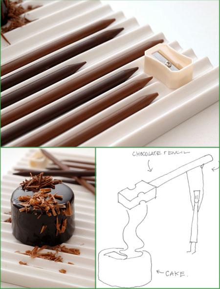 Chocolate Pencil - Nendo Design