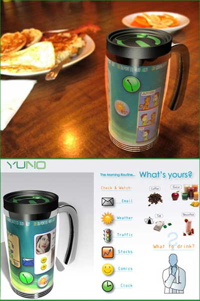 Yuno, pc in tazza