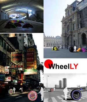 Wheelly, ruota sistema-abitativo per senzatetto