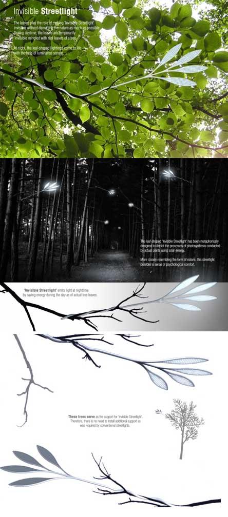 Invisible Streetlight, light eco design