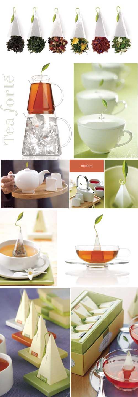 Tea Fortè, packaging design