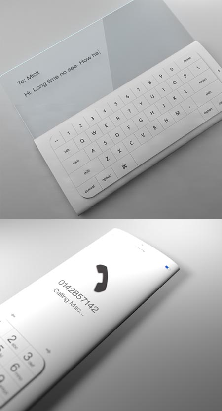 Cellulare con superfici OLED