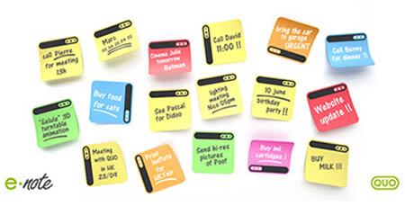 E-note design