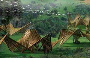 Folding Bamboo Houses