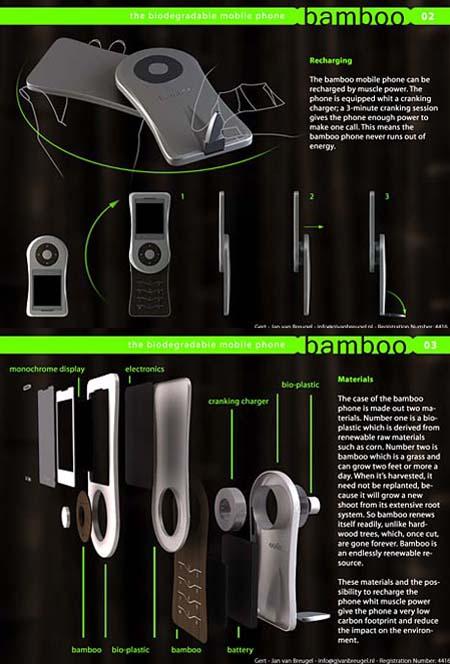 Callulare sostenibile Bamboo Phone