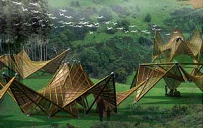 Folden Bamboo Houses