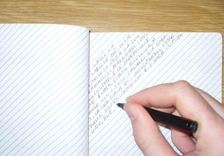 Matt Browe Slant-ruled notebook