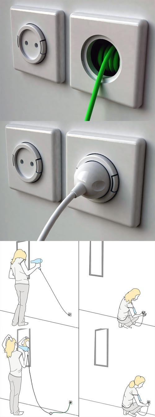 Presa elettrica allungabile design Meysam Movahedi
