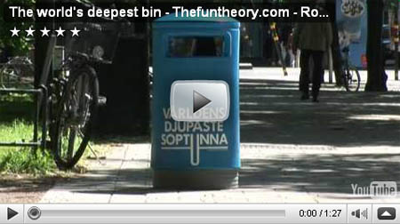 The Fun Theory: The World\'s deepest bin