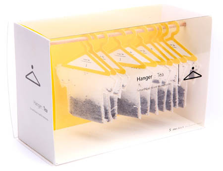 Hanger Tea packaging design