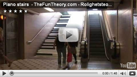 The Fun Theory: Piano Stairs