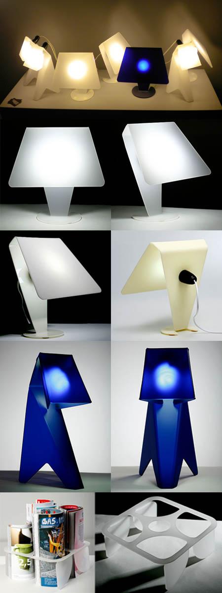 Lampade e portariviste design Anca Fetcu