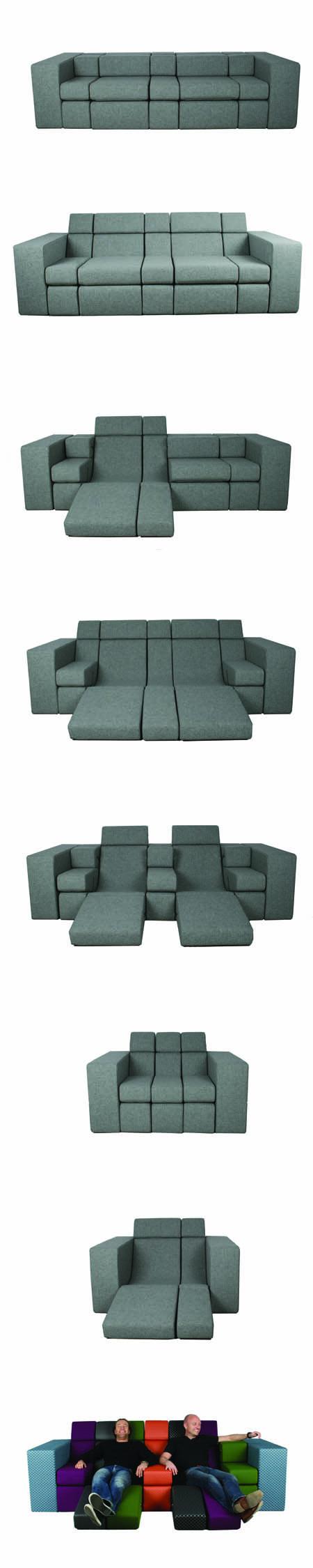 Zona Tortona, divano Bobo design di Michael Kruijne