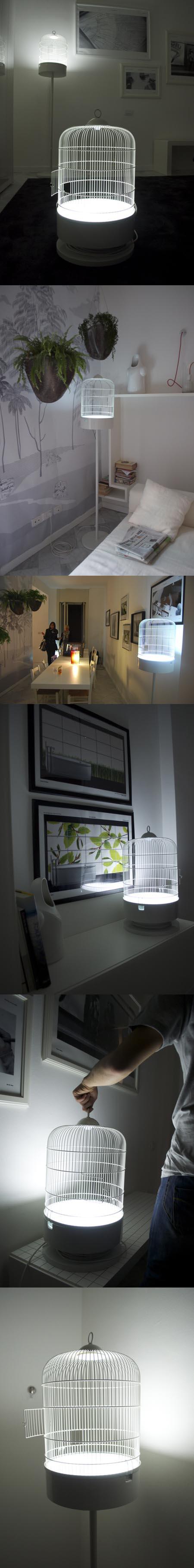 Zona Tortona, appartamento Lago, lampada Cardellino design Collettivo Sud