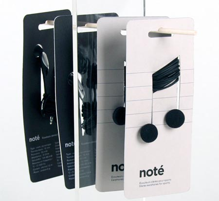 Notè, packaging design cuffie audio